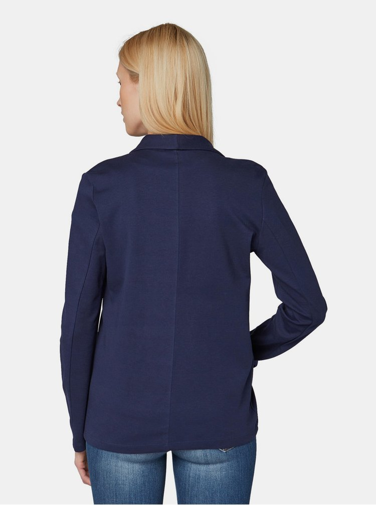 Tmavě modré dámské sako Tom Tailor Denim