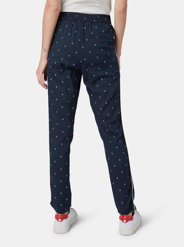 Pantaloni albastru inchis de dama cu model Tom Tailor Denim