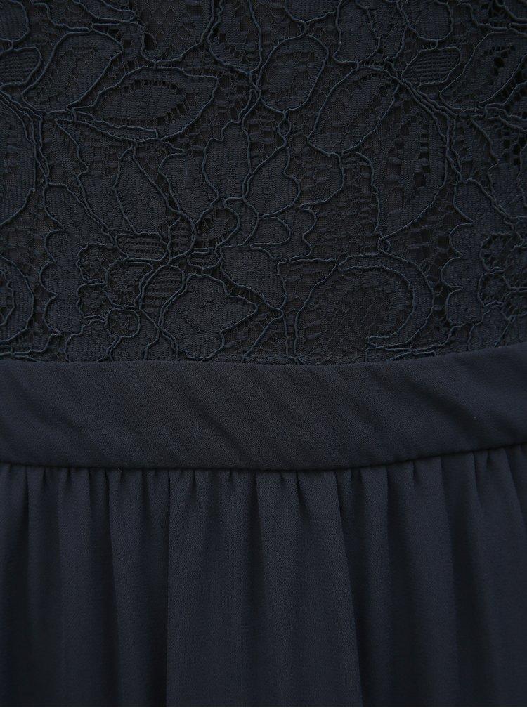 Tmavě modré maxišaty s krajkou ONLY Analina