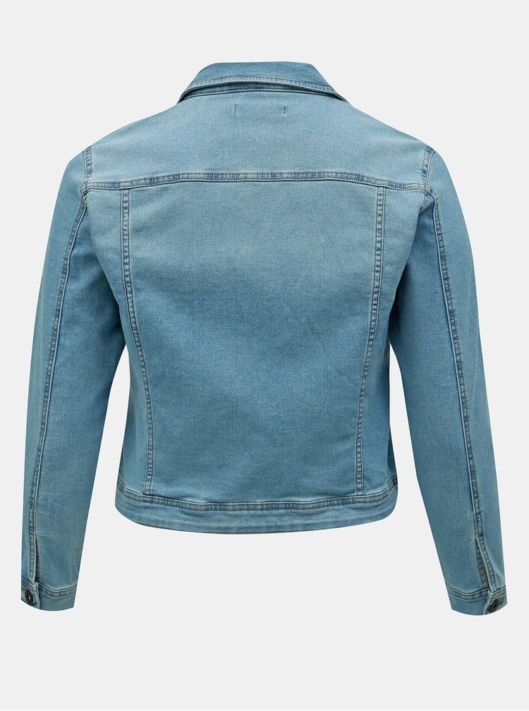 Jacheta albastra din denim ONLY CARMAKOMA Lock