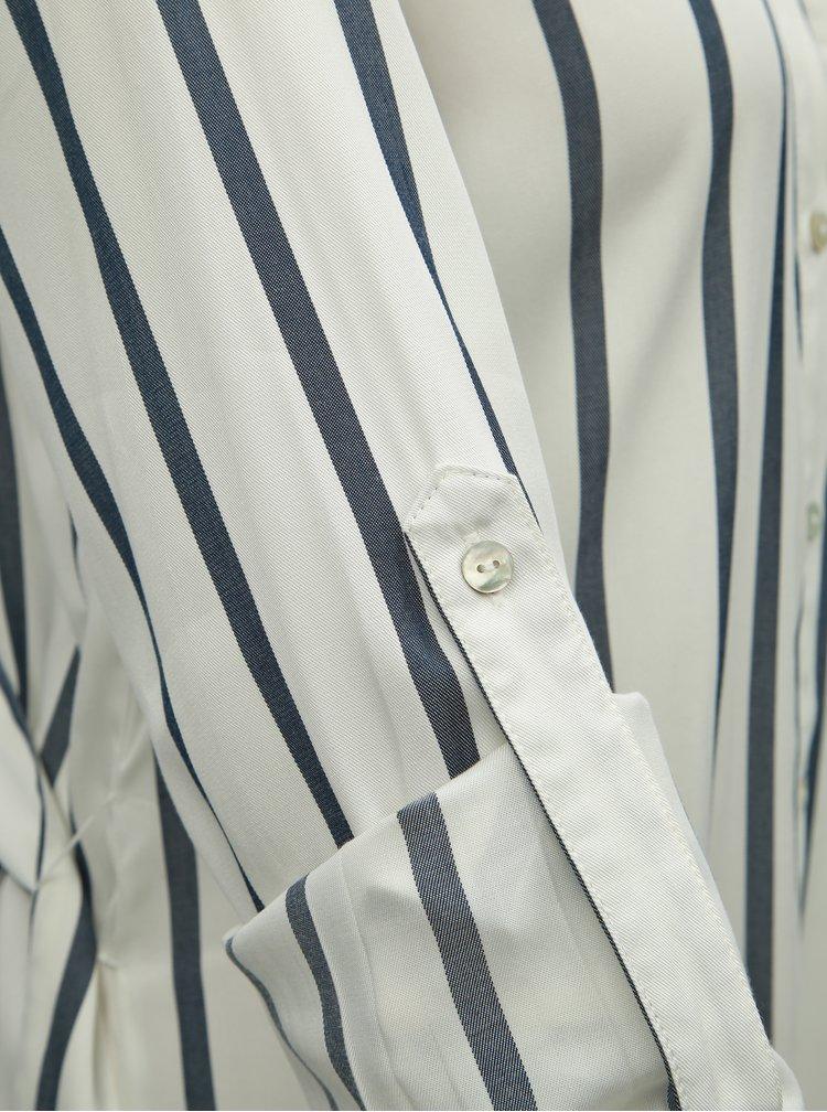 Rochie tip camasa albastru-alb in dungi ONLY Mira