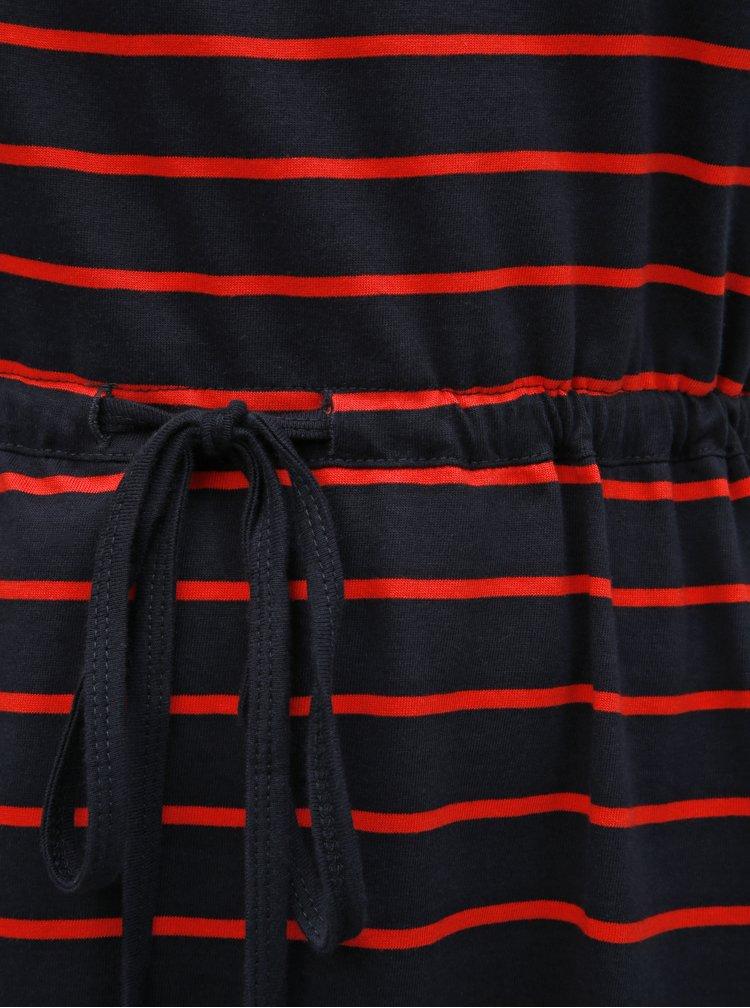 Červeno-modré pruhované šaty ONLY CARMAKOMA April