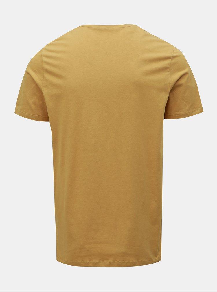 Světle hnědé tričko Jack & Jones Power