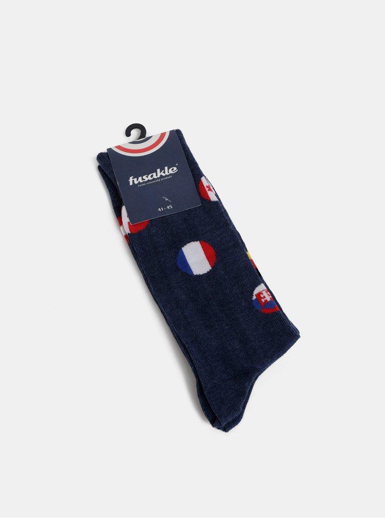Modré hokejové ponožky Fusakle Hockey teams