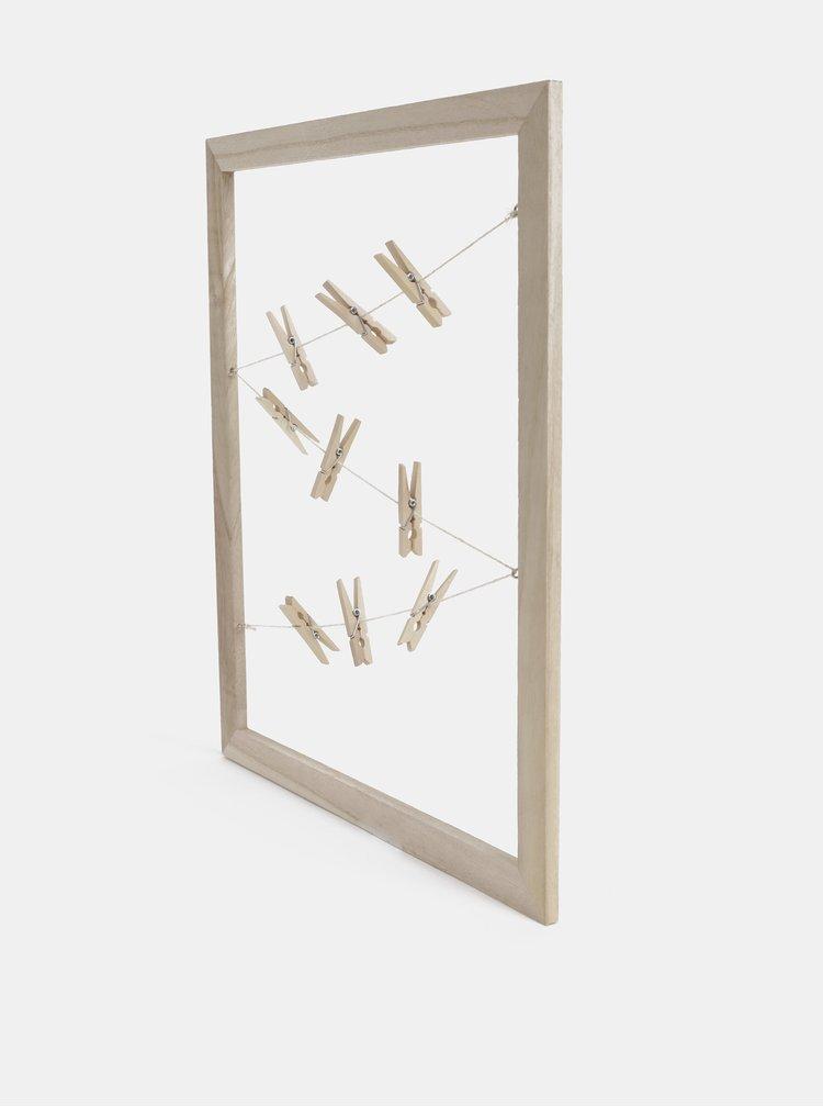 Světle hnědá dřevěná závěsná tabule na fotky Dakls