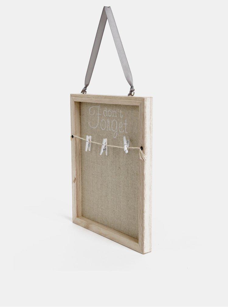 Světle hnědá dřevěná závěsná tabule fotky Dakls