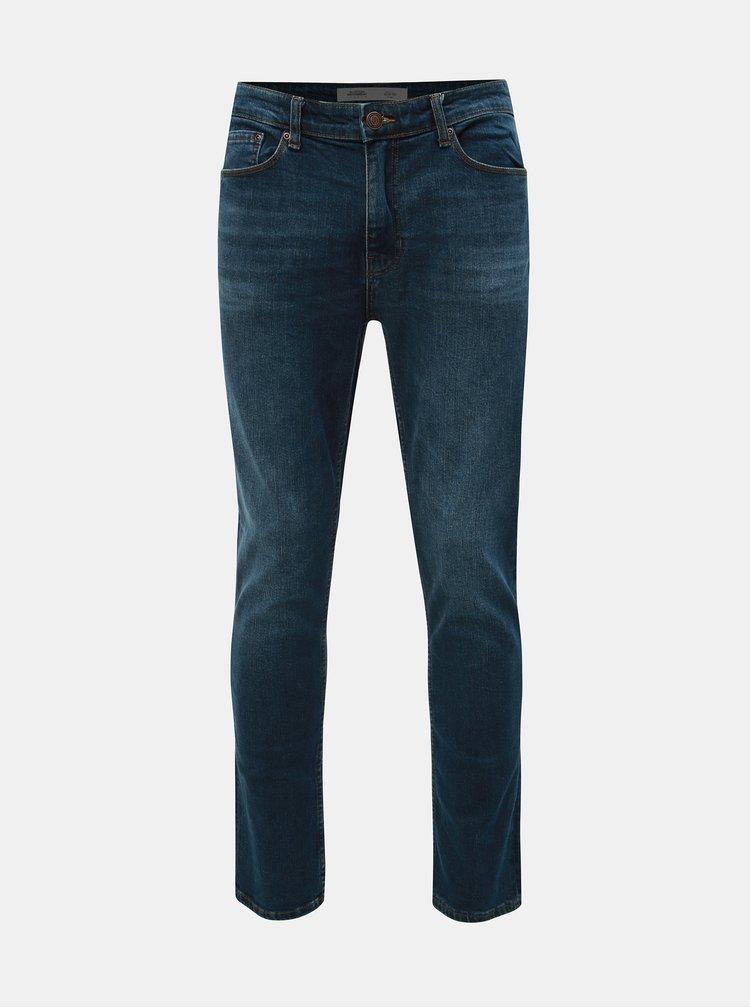 Blugi albastri slim fit Burton Menswear London
