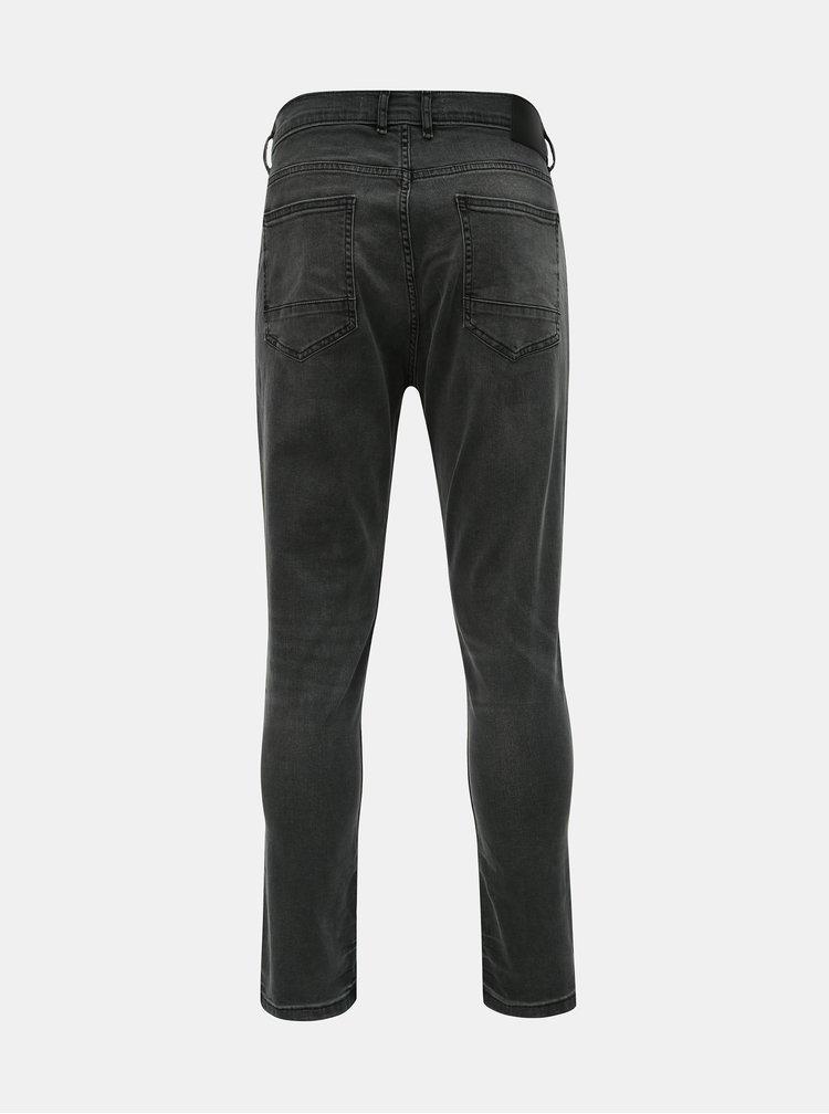 Tmavě šedé tapered fit džíny Burton Menswear London