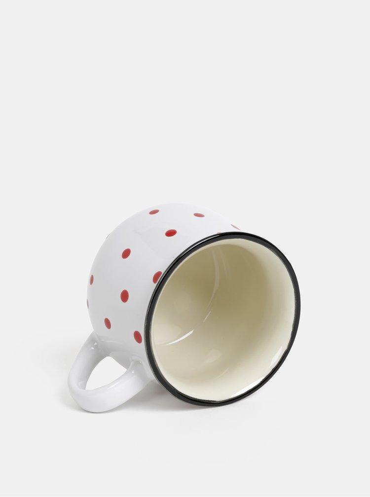Bílý puntíkovaný hrnek Dakls