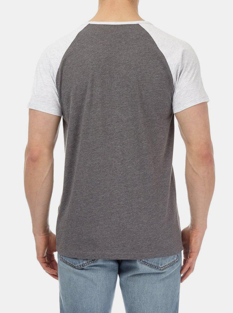 Šedé žíhané basic tričko Burton Menswear London