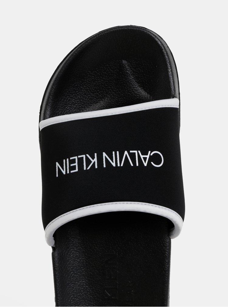 Černé pánské pantofle Calvin Klein Underwear