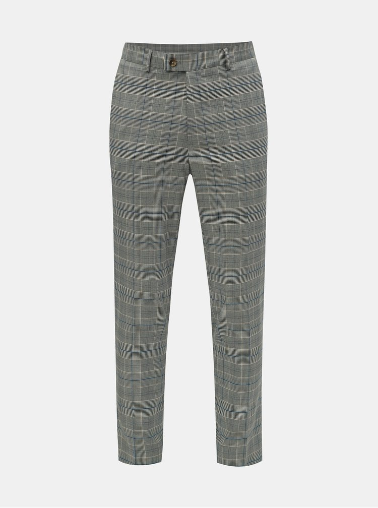 Pantaloni gri in carouri Burton Menswear London