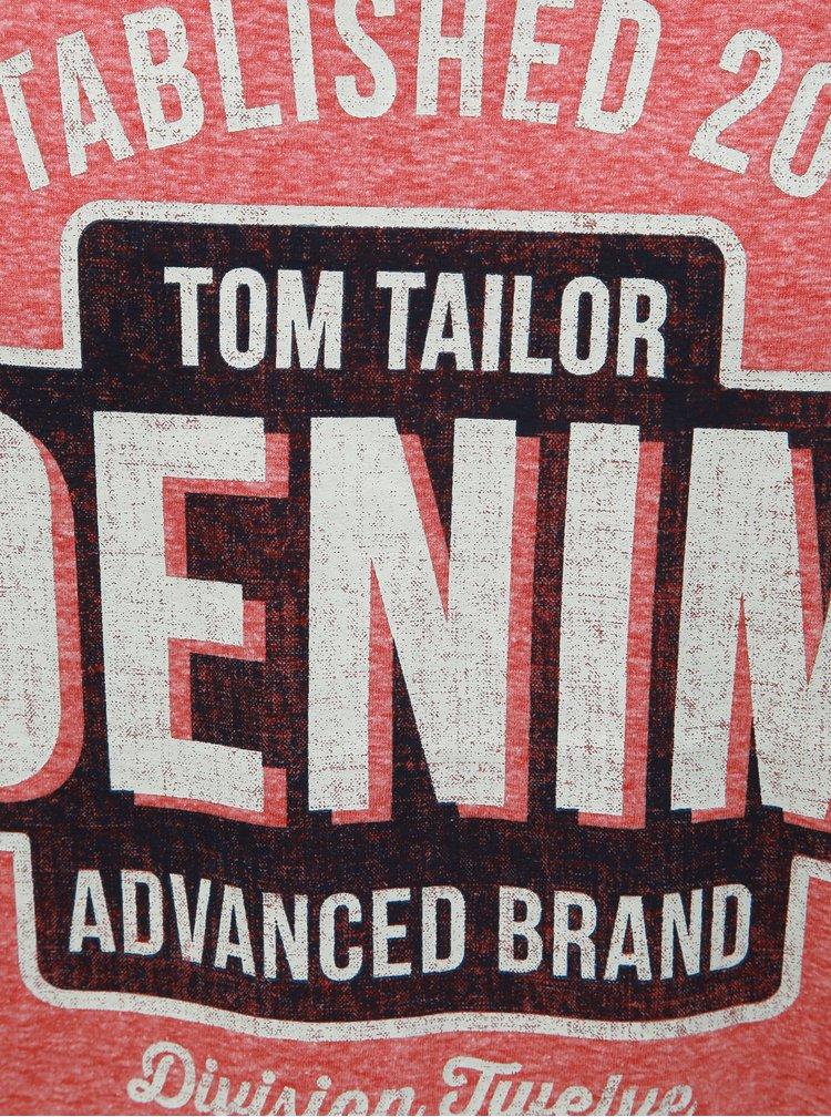Tricou barbatesc rosu melanj Tom Tailor Denim
