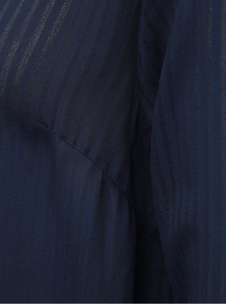 Camasa lunga albastru inchis in dungi de dama Tom Tailor Denim