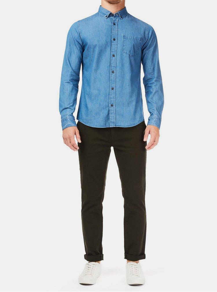 Modrá džínová košile s kapsou Burton Menswear London