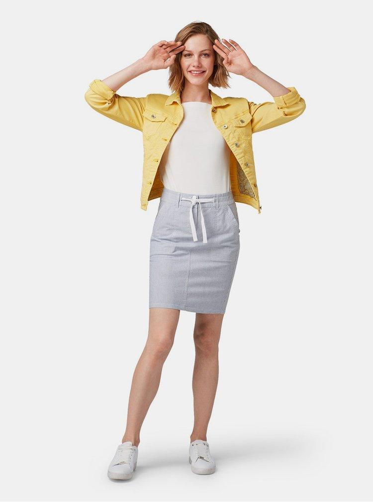 Svetlosivá vzorovaná sukňa Tom Tailor