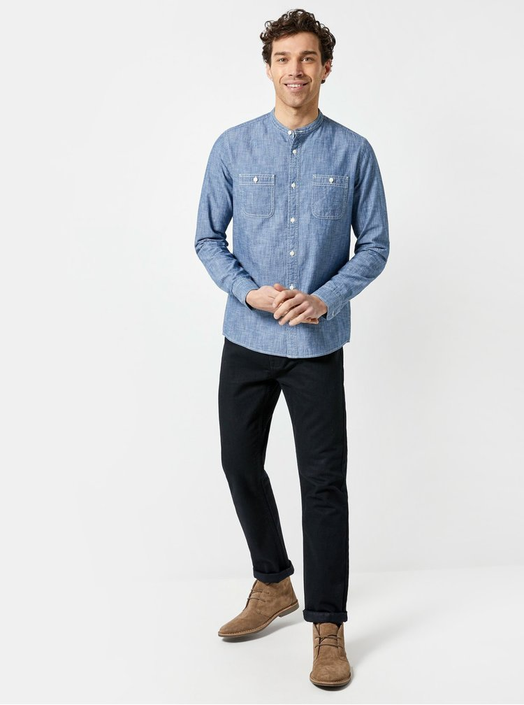 Camasa albastra cu buzunare Burton Menswear London