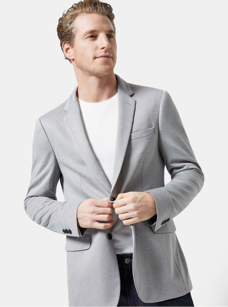 Sivé sako Burton Menswear London