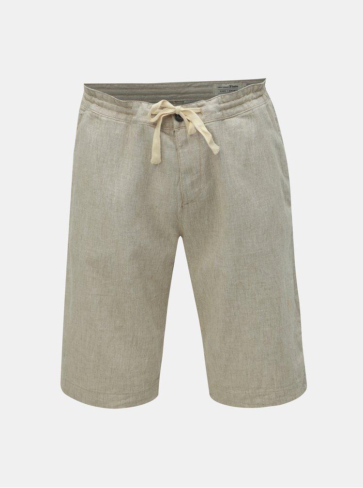 Pantaloni scurti barbatesti bej cu amestec de in Tom Tailor Denim