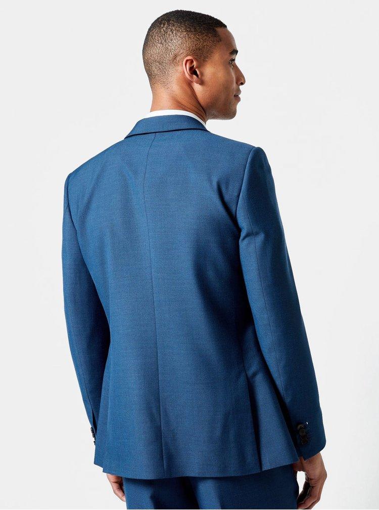 Modré oblekové slim fit sako Burton Menswear London