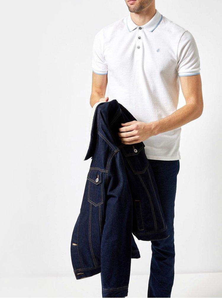 Bílé polo tričko Burton Menswear London