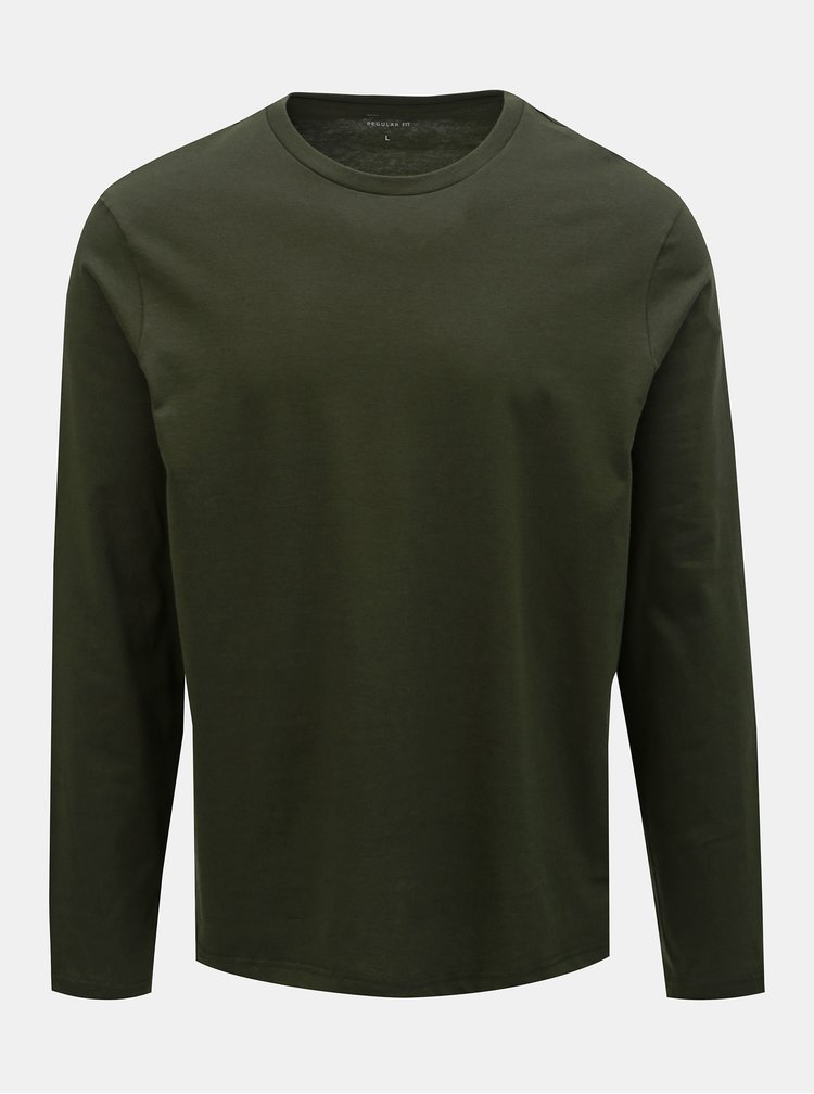 Set de 2 tricou basic gri si verde inchis regular fit Burton Menswear London