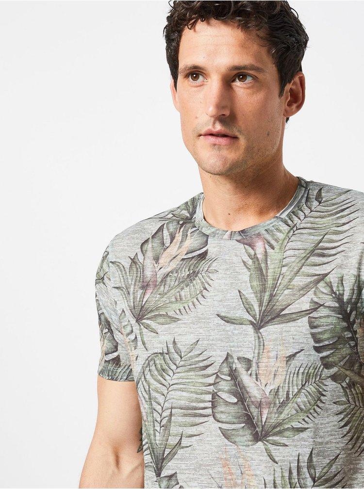 Zelené vzorované tričko Burton Menswear London