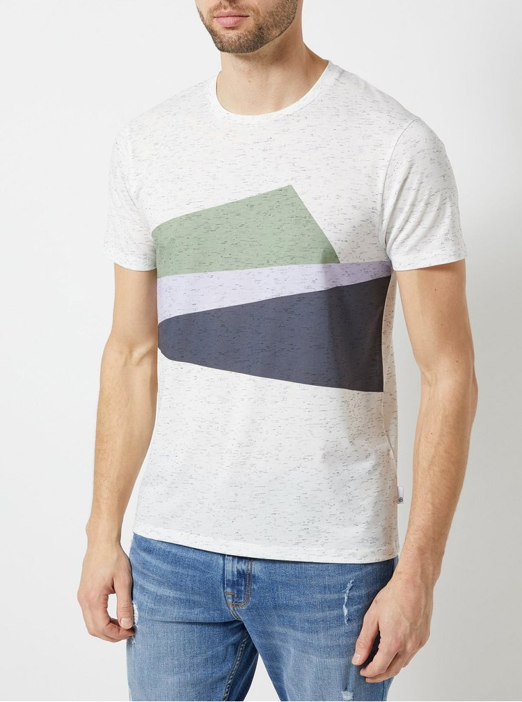 Krémové žíhané tričko Burton Menswear London