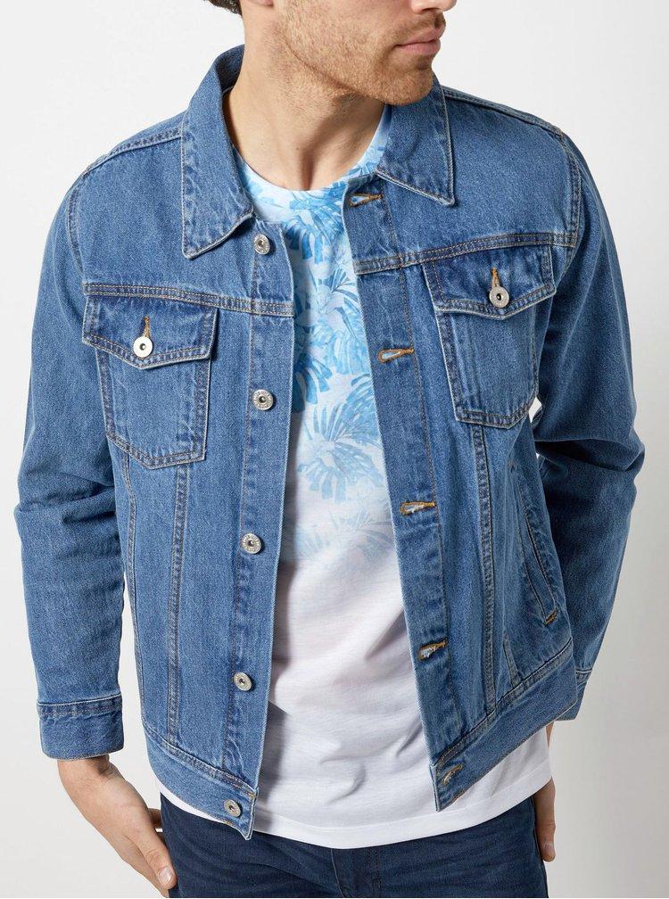 Bílo-modré květované tričko Burton Menswear London