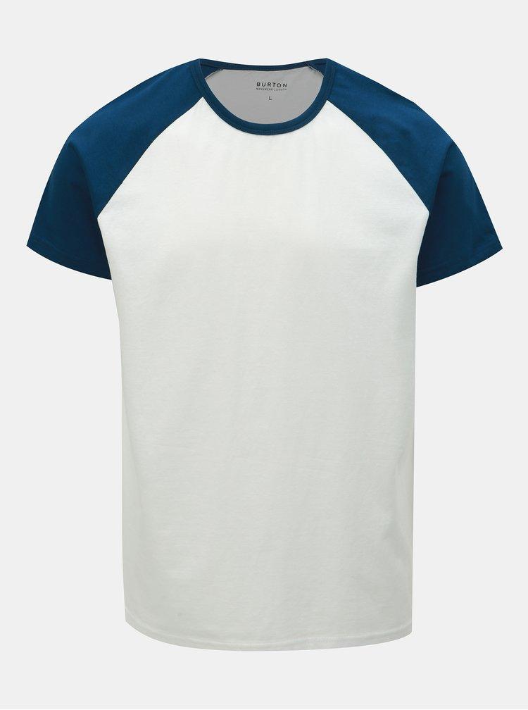 Modro–biele basic tričko Burton Menswear London