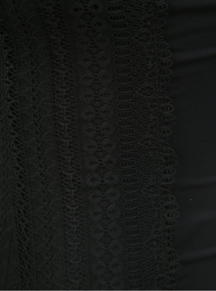 Čierne čipkované body Pieces Signe