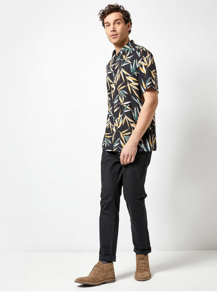 Camasa neagra cu model Burton Menswear London