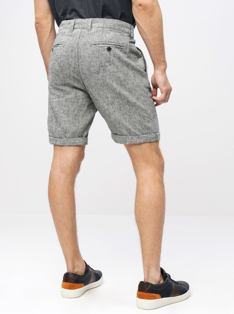 Pantaloni scurti gri melanj straight fit chino din in Selected Homme