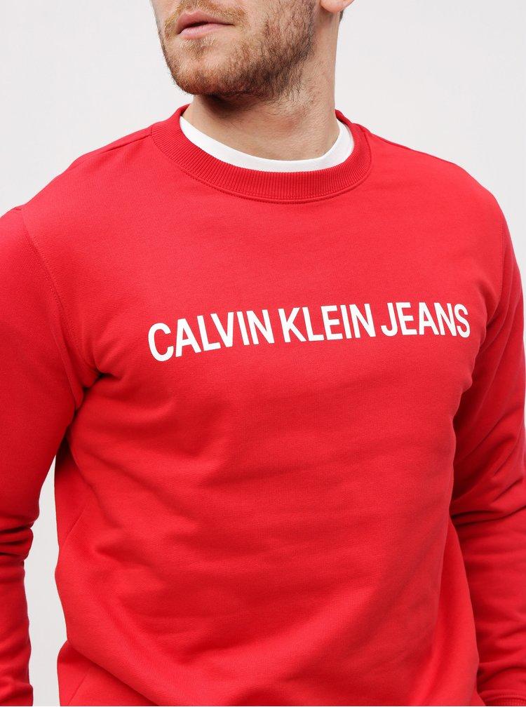 Červená pánska mikina Calvin Klein Jeans