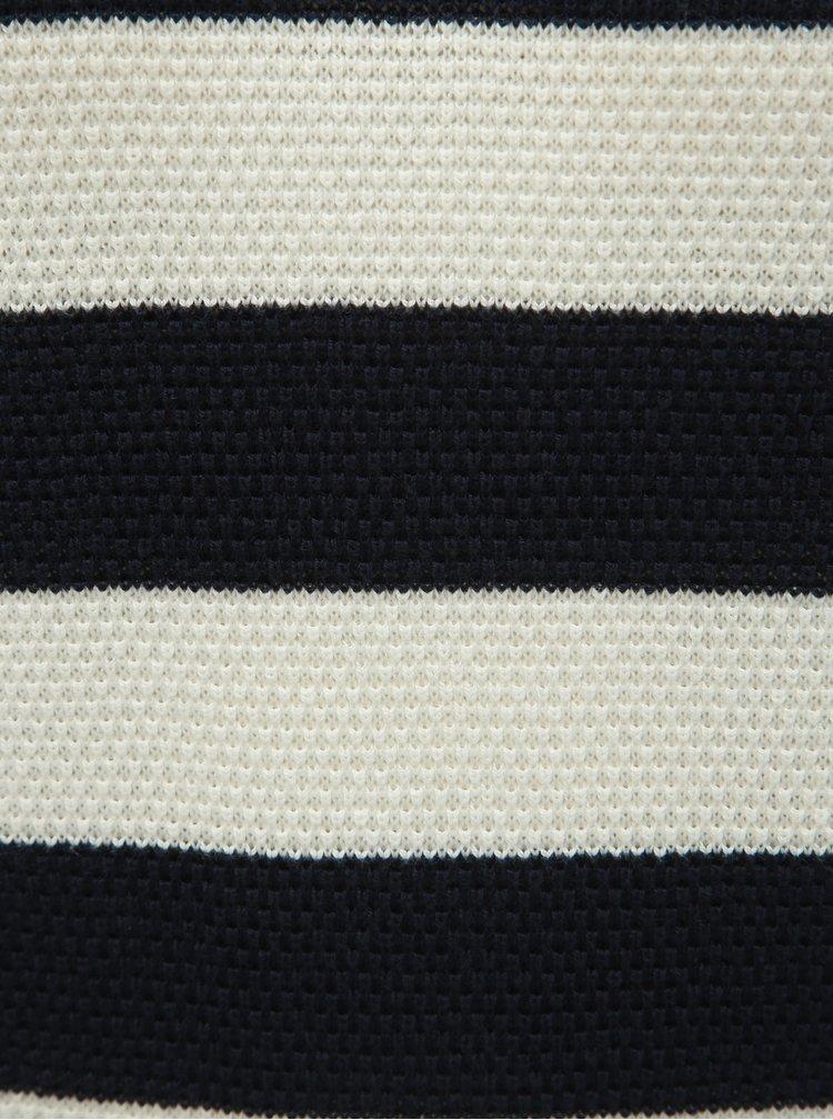 Bielo–modrý pruhovaný sveter Selected Femme Milano
