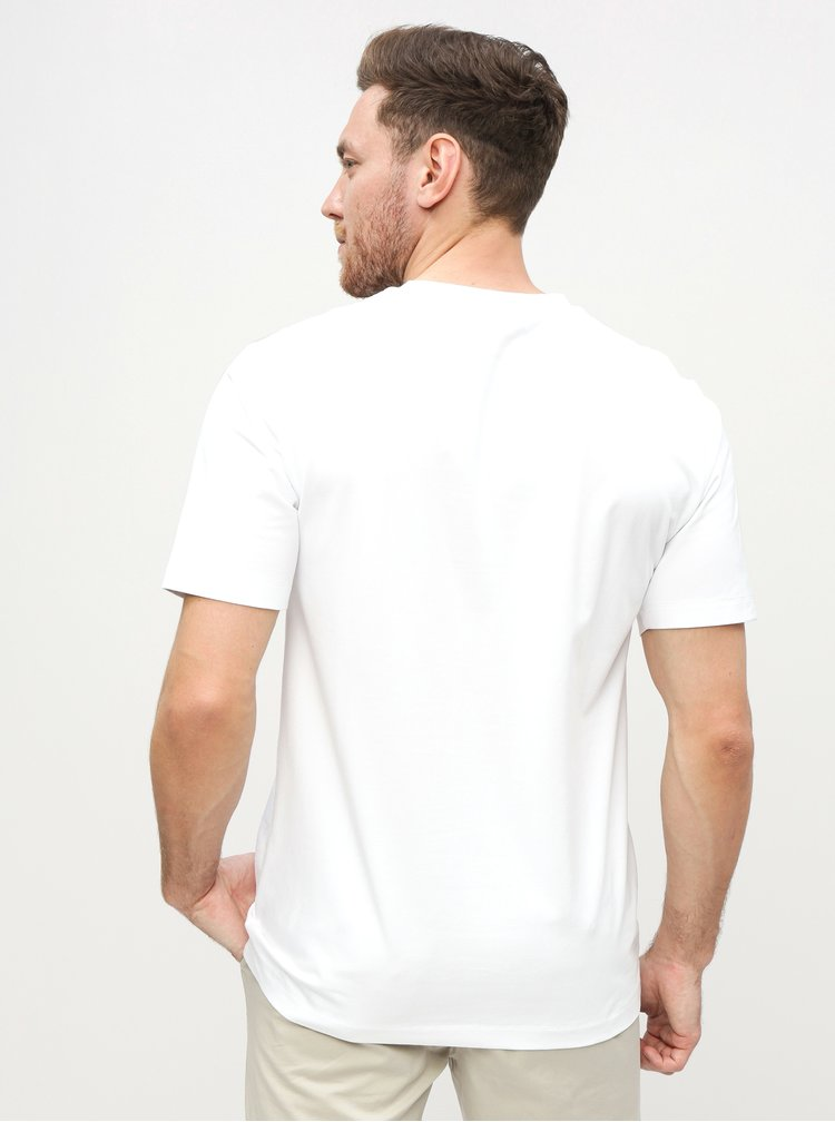 Bílé pánské tričko s potiskem Calvin Klein Jeans