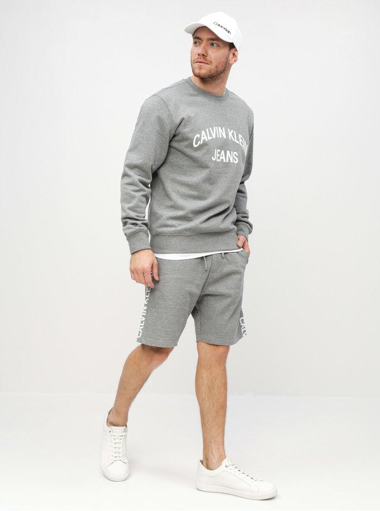 Šedá pánská mikina Calvin Klein Jeans