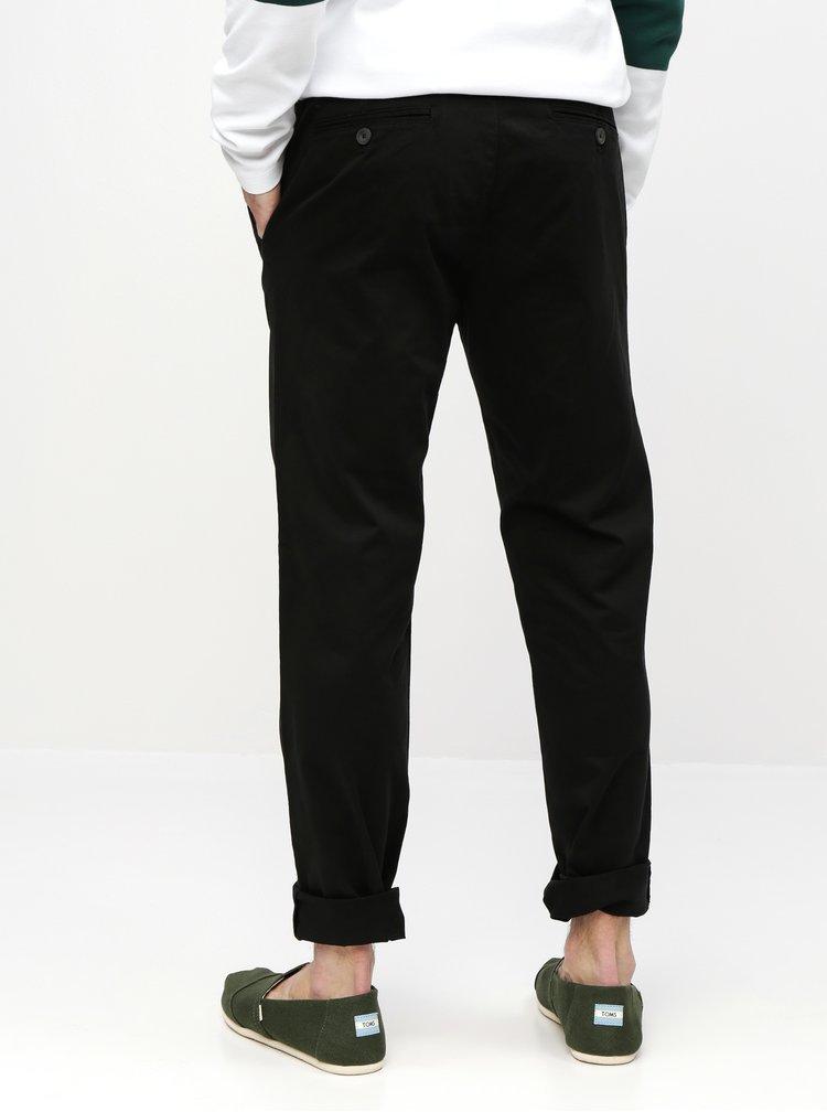 Čierne straight chino nohavice Burton Menswear London