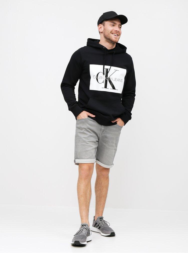 Černá pánská mikina s potiskem Calvin Klein Jeans