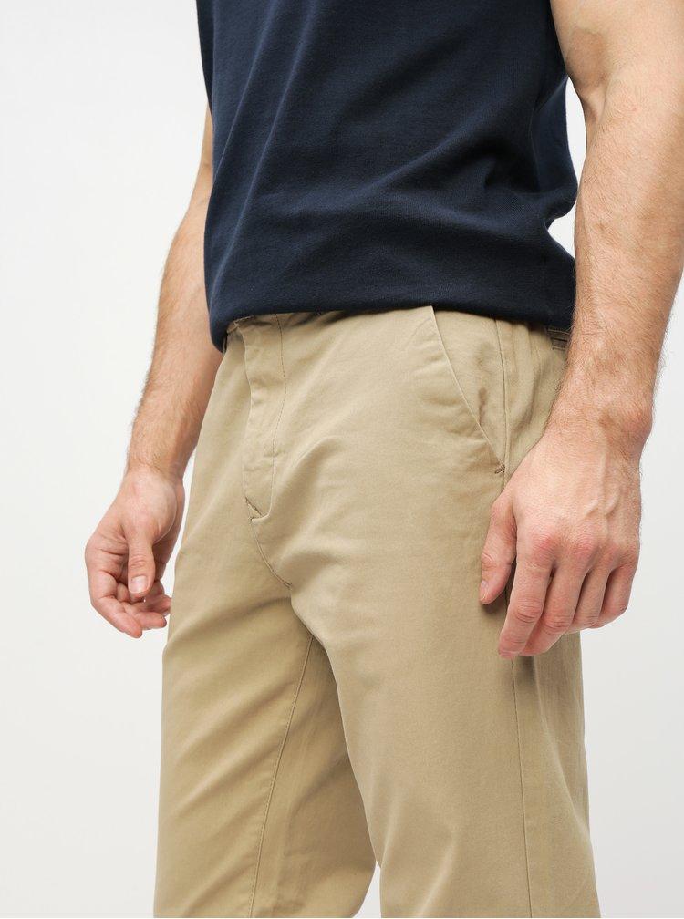 Béžové straight chino kalhoty Burton Menswear London