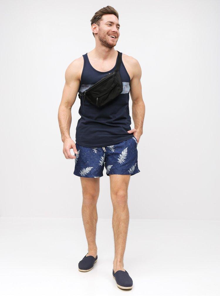 Bermude albastru inchis cu model Selected Homme Classic