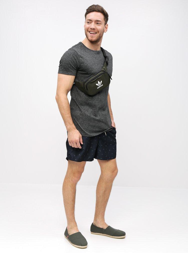 Tmavosivé žíhané tričko s krátkym rukávom Lindbergh
