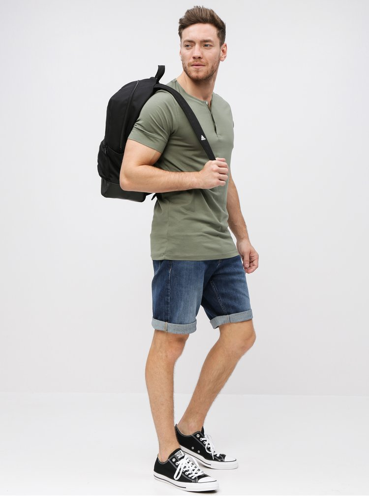 Tricou kaki Selected Homme Amos