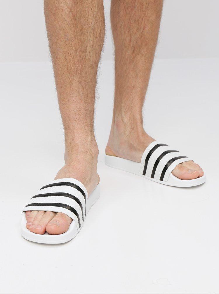 Papuci albi adidas Originals Adilette