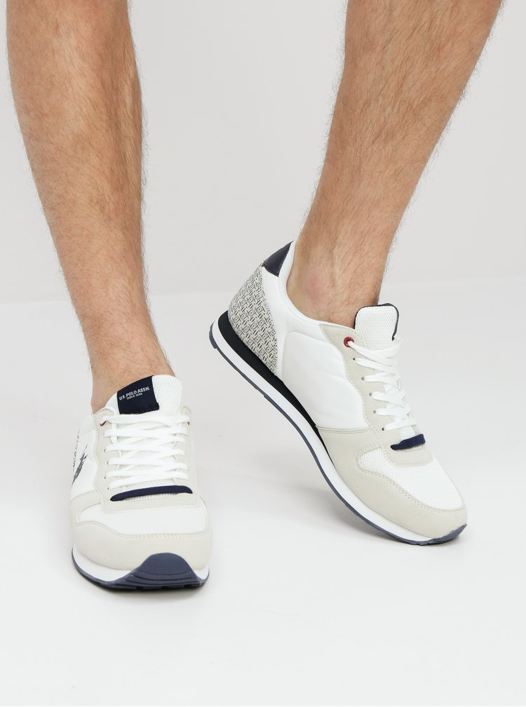 Pantofi sport barbatesti crem-alb U.S. Polo Assn.