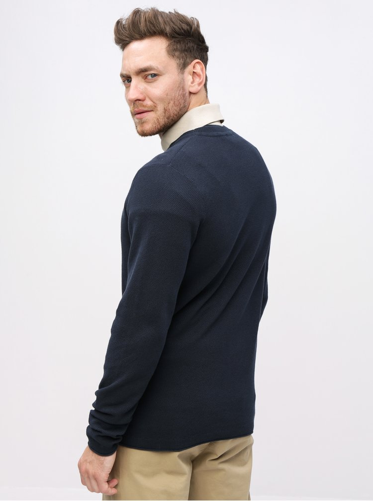 Pulover albastru inchis Selected Homme Stoke