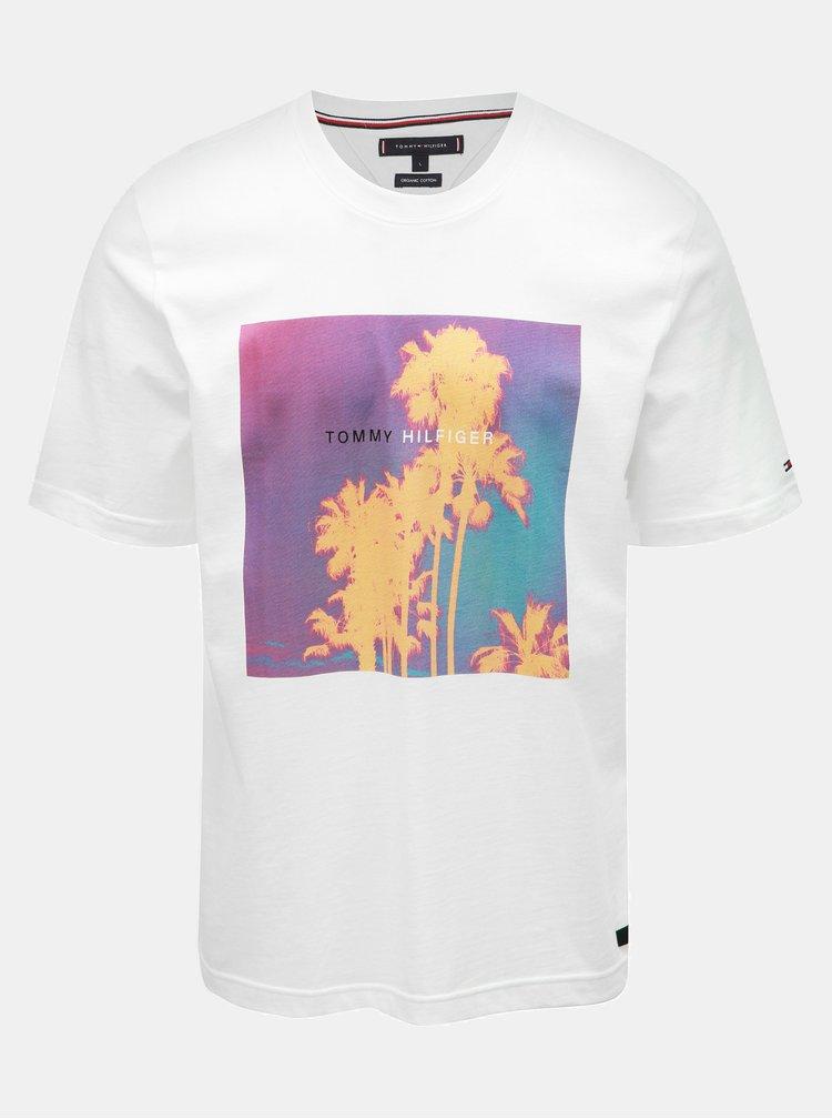 Biele pánske tričko s potlačou Tommy Hilfiger Tomorrow