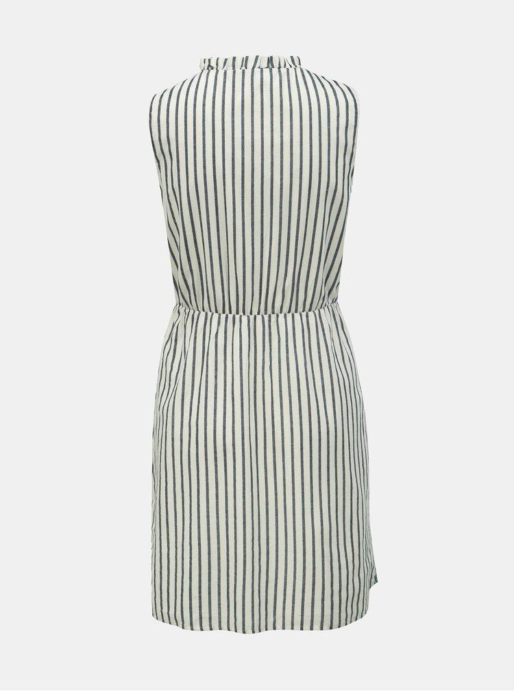 Modro–biele pruhované šaty VERO MODA Coco Stripy
