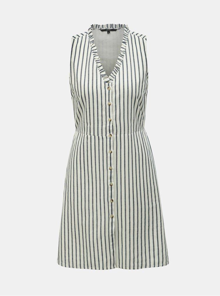 Modro-bílé pruhované šaty VERO MODA Coco Stripy