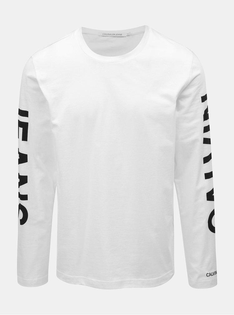 Bílé pánské tričko potiskem Calvin Klein Jeans